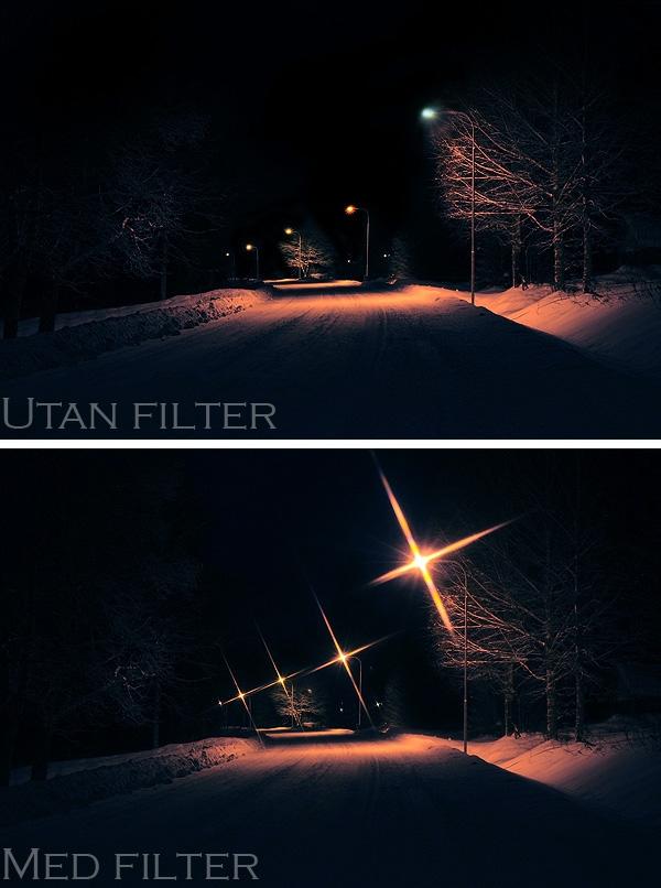 Stjärnfilter Fotografering