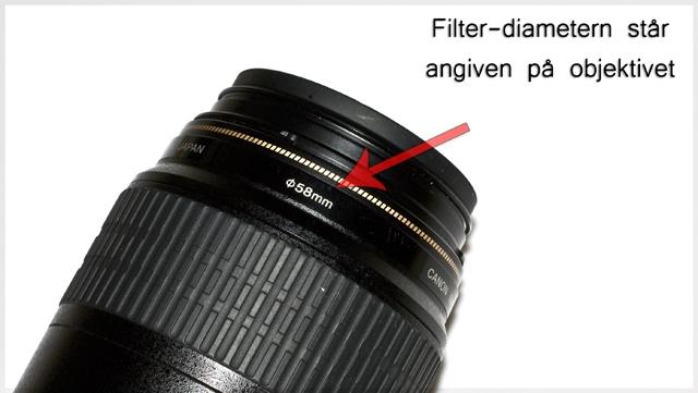 Filterstorlek