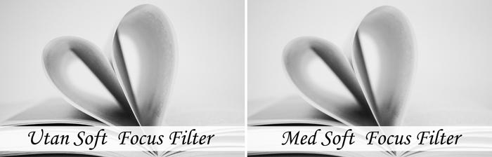 Med och utan Soft Focus-Filter
