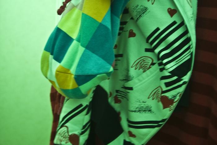 Bild på grön tröja