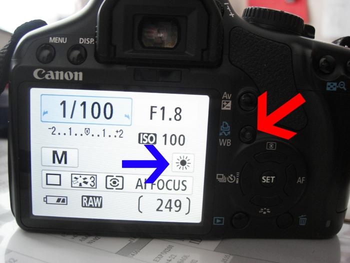 Vitbalansinställning på Canon