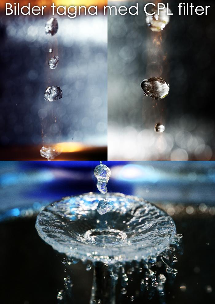 Vatten fotografering med CPL Filter