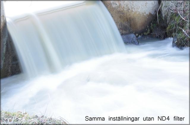 Rinnande vatten utan filter